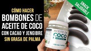 Usa Aceite de Coco de Mercadona y haz Bombones de Cacao y Jengibre sin azúcar ni grasa de palma