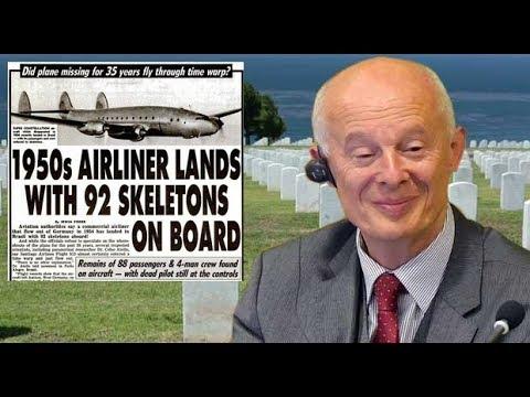 1950s AIRLINER LANDS WITH 92 SKELETONS ONBOARD