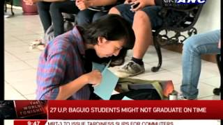 27 UP Baguio students might not graduate on time
