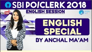 SBI PO   English Special By Anchal Ma'am   SBI CLERK/PO