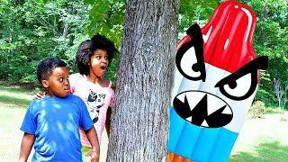 GIANT ICE CREAM vs Bad Baby Shiloh And Shasha - Crazy Giant Ice Cream CHASE!! - Onyx Kids