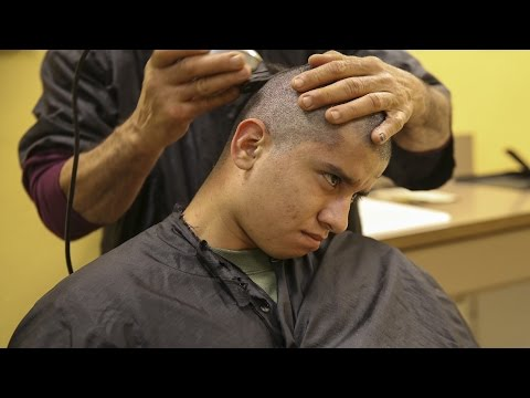 watch How United States Marines Haircuts Look Like  - US Marine Recruits Recive New Marine Haircut