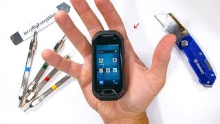 Worlds SMALLEST Rugged Smartphone - Durability Test!