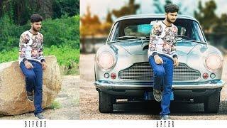Photoshop Tutorial   Photo Manipulation Change Background As Old  Car