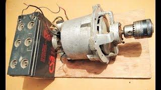 Run a High Torque Mixer Motor as dc motor at 10000rpm with 12v battery diy