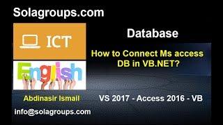 Qaabkee laysagu xiraa Microsoft Access DB iyo VB.NET?