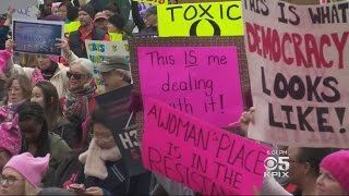 Bay Area Women Travel Across U.S. For Women's March In Washington