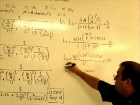 Lineas de espera Modelo MMs y un ejemplo de aplicación