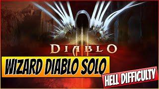 ★ Diablo 3 Gameplay - Soloing Diablo Hell Final Boss Fight - Wizard lvl 60 - HD
