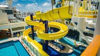 Norwegian Escape - Yellow Cruise Ship Waterslide Onride POV