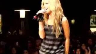 Ashley Tisdale at  Nashville 10-25-07 Singing Not Like That
