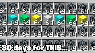 we waited 30 DAYS to open this Minecraft Wealth CHEST... ($$)