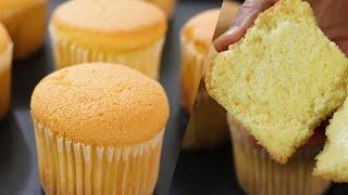 How to make fluffy Cupcake / 카스테라컵케이크만들기/No butter cupcake