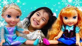 アナと雪の女王 プリンセスドールエルサとアナ オラフ ディズニー お人形ごっこ遊び アナ雪 himawari-CH