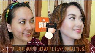 Review + Tutorial Makeup Jerawat Ft. Ver 88 Bounce Up Pact Bedak Thailand (Bahasa Indonesia)