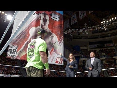 حديث ستيفاني مكمآن وتربل آتش وجون سينآ وظهوره على غلاف لعبة    WWE Raw بتآريخ 14/6/30