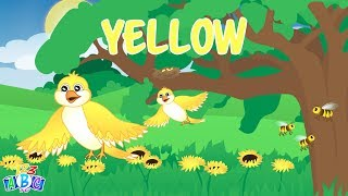 The Color Yellow Song – Yellow Song for Kids – Learn the Colors for Children Preschool