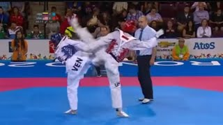 Taekwondo Steven López USA vs Javier Medina VEN -80 kg. 2015 Pan American Games