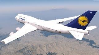 [P3D v4] Frankfurt [EDDF] - Los Angeles [KLAX] Full Flight! | Lufthansa PMDG 747-400