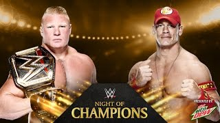 John Cena vs. Brock Lesnar - Night of Champions - WWE 2K14 Simulation