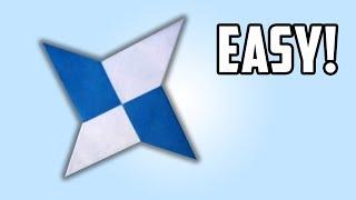 how to Make a Paper Ninja Star / Shuriken. (Full HD)