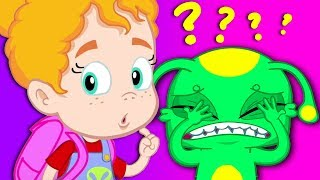 Groovy The Martian & Phoebe - Why Groovy is scared at the museum? A dinosaur? A mummy?