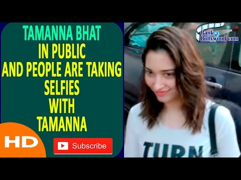 Tamanna Bhati In Public and Peple are taking Selfies | Selfi with Tamanna
