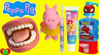 Peppa Pig Brushing Teeth and Surprises
