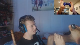 KID VLOGS WITH HIS FEET! (Red Feetz)