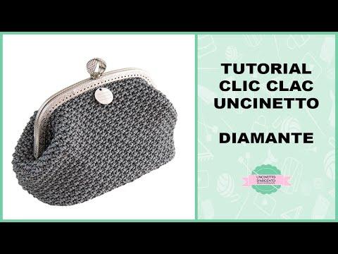 Tutorial Crochet Pochette Diamante With Sub Punto Fantasia