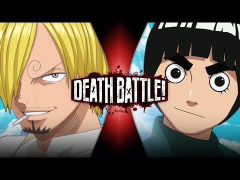 Sanji VS Rock Lee One Piece VS Naruto DEATH BATTLE