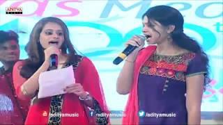 Ramya Behara singinig Choolenge Aasma Song Live Performance At Temper Audio Launch