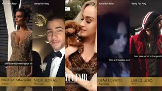 Vanity Fair After Party 2017 Snapchat Compilation [Katy Perry,Demi Lovato,Jared Leto & more]