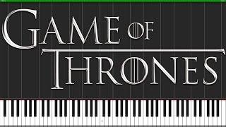 Game of Thrones Theme [Piano Tutorial] (Synthesia) // PianoMavs