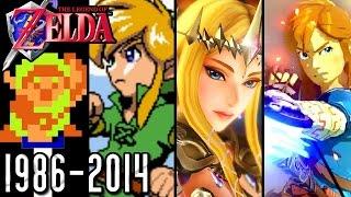 The Legend of Zelda ALL INTROS 1986-2014 (Wii U, GCN, N64, SNES, NES)