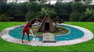 Unbelievable! Build Swimming Pool Around  Underground House