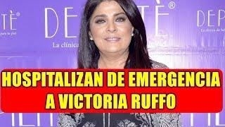 VICTORIA RUFFO fue TRASLADADA al HOSPITAL tras DESMALLARS3  previo A OBRA de TEATRO