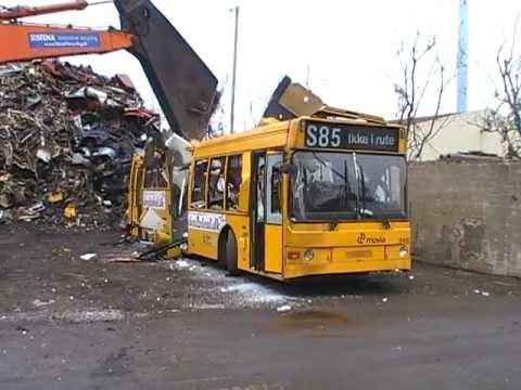 City Trafik 2410 Scania N113CLL Lahti 402 at the scrap yard