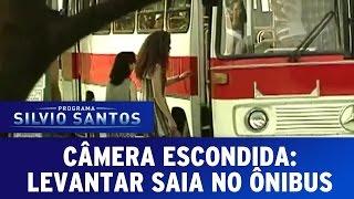 Câmera Escondida: Levantar saia no ônibus