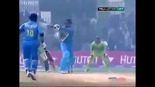 Irfan Pathan hits six 4 in Umar Gul Over India v Pakistan  at Peshawar