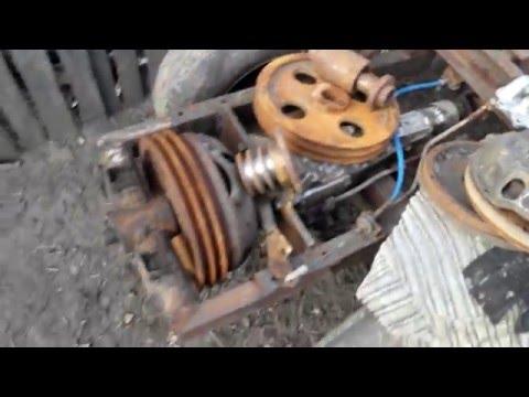 Как сделать на самодельному трактору сцепление 321