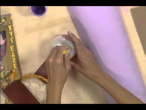 Artesanato Decupagem na telha PGM Manhã Viva parte 02