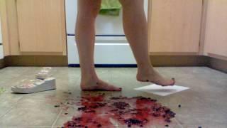 Feet fruit crush