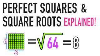 ☆ What is a Square Root and a Perfect Square? | Common Core Math