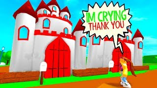 She Started CRYING When I Bought Her The New CASTLE (Roblox Meepcity)