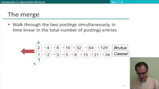 18   4   Query Processing with the Inverted Index Stanford NLP Dan Jurafsky & Chris Manning   YouTub