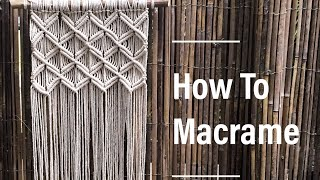 How To Make Macrame Wall Hanging #1 || Basic Knots || By TNARTNCRAFTS