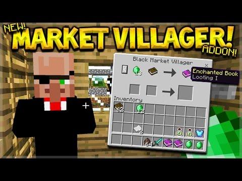NEW BLACK MARKET VILLAGER!! Minecraft Pocket Edition Black Market Villager (MCPE Addon)