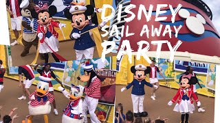 Sail Away Deck Party - Disney Cruise Line - Disney Dream - October 2017