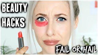 Red Lipstick Concealer? Beauty Hacks  | Carly Musleh